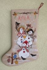 Dimensions 8486 Snow Family Stocking