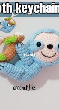 Crochet like - Patcharaporn Kochsila - Sloth keychain