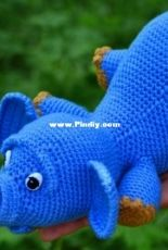Happy Crochet Pattern - Lo Lo - Amigurumi Elephant with ballon and flower