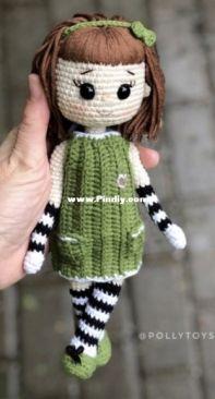Polly Toys Crochet - Dasha Lobacheva - Kira doll