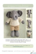 Little Cotton Rabbits-Boy Elephant in a textured sweater by Julie Williams