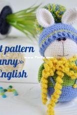 Eco Happy Toys - Crochet bunny - English