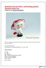 Denizas Toys Joys-Tanoshi Series-Amanita Muscaria Doll by Tatyana Korobkova