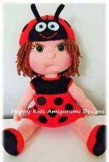 Happy Kids Designs -  Celine Doll with Ladybug Costume