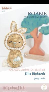 Foxy Crochet - Ellie Richards - Robbie the lionhead bunny