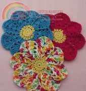 Lily-Flower Dishcloth-crochet