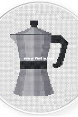 Daily Cross Stitch - Coffee Pot