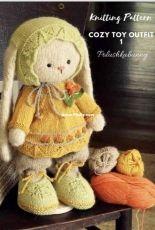 Polushka Bunny Knit Cozy Toy Outfit - English