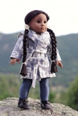 """Wren Feathers - Blanket Coat and Chukka Boots/Moccasins for 18"""" Dolls - Free"""