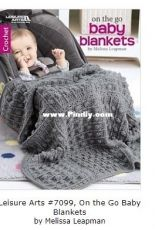 Leisure Arts #7099, On the Go Baby Blankets