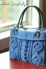 A Crocheted Simplicity - Jennifer Pionk - Totally Textured  Cabled Bag