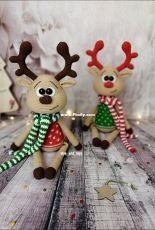 Olya and Toys - Olga Skarlatyuk - Amigurumi Reindeer free crochet pattern - Free