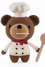 DIY Fluffies - Mariska Vos-Bolman - Bjorn the cooking bear - English and Dutch