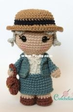 Crochelandia - Rose Nogueira - Toy Art Miss Marple - Portuguese