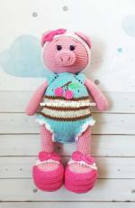 Knittoypatterns - Natalya Solovjeva - Natalia Solovieva - Cherry Pig - Russian