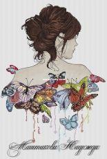 Girl with Butterflies by Nadezhda Mashtakova / Маштакова Надежда
