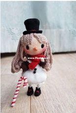 Crochet Happy Plushie - Shia S - The Snowgirl Akiko