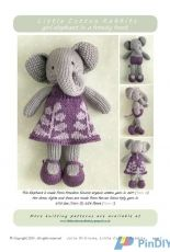 Little Cotton Rabbits-Elephant Girl in a frondy frock by Julie Willams