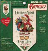 DIMENSIONS 08695 CHRISTMAS SPIRIT BANNER