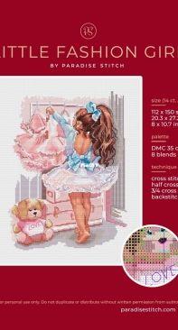 Paradise Stitch - Little Fashion Girl - Olga Lankevich