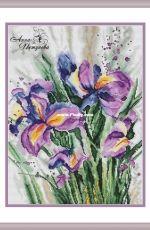 Watercolor Irises by Anna Petunova