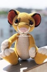 By Knit Toys - Tatyana Medvedeva - Lion Simba - English