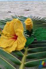 Flawless Crochet Flowers  - Leticia Lebron  - Hawaiian Hibiscus