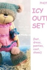 Crochet Bunny Art - Irina Tarasova - Icy outfit set