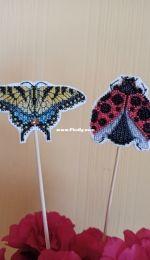 Mill Hill Yellow Swallowtail and Ladybug