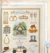 Wedding Day Sampler from Cross Stitch Gold 85