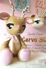 Apostilla Digital Cervo 3D Artes em Feltros by Juliana Cwikla - Portugues