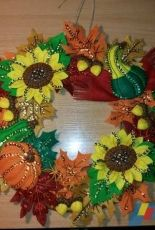 Harvest Time Wreath/Bucilla