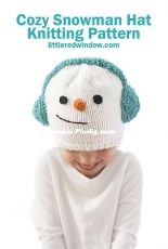 Cassandra May - Cozy Snowman Hat