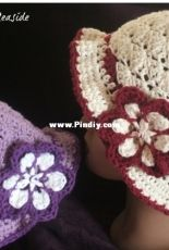 Homemade hats by Cheryl - Flowers by the Seaside - Free