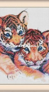 Little Tigers by Nadezhda Gavrilenkova