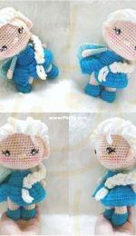 Crochet Garage -Mini Elsa Frozen 1 - Portuguese - Translated