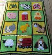 Knot your nanas - farm blanket, including all appliques - english pdf