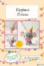 Noia Land - Elephant Circus Felt pattern