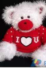 Valentine Bear Cub Sweater by Lorraine Pistorio