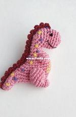 Crochet Pattern By Lily - moi prelesti - Liliya Sharipova - Kapitoshka the dino brooch