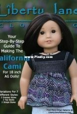 """Liberty Jane Clothing - CA Cami Top for 18"""" Dolls"""