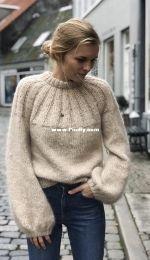 Sunday Sweater by Mette Wendelboe Okkels - PetiteKnit -  English, French, German