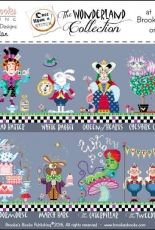 Brookes Books - The Wonderland Collection - Alice, Mad Hatter, White Rabbit,  Queen of Hearts, Cheshire Cat, Royal Gardener,  The White Queen, Dormouse, March Hare, The Caterpillar, The Tweedles,  The Duchess