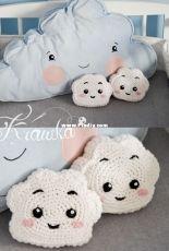 Krawka - Kamila Krawka Krawczyk - Cute cloud mini pillow - free