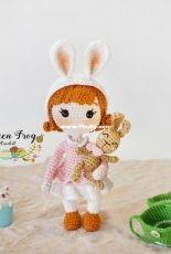 Green Frog Crochet - Thuy Anh - Bubu the bunny girl