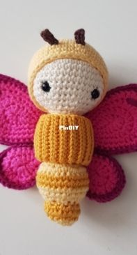 lalylala - Yellow and pink butterfly