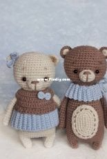 GurumiLand - Nadya Pavlova - Tolly the bear  and Molly the bear
