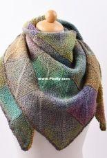 Knit Domino Shawl by Hobbii Design - FREE