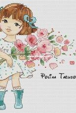 Miya with a Bouquet by Polina Tarusova