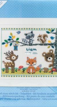 Vervaco PN-0150179 Forest Animals Birth Sampler